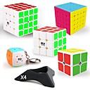povoljno Magične kocke-9 kom. Magic Cube IQ Cube QIYI QIYI-A Pyramorphix Alien Mini 2*2*2 3*3*3 4*4*4 5*5*5 Glatko Brzina Kocka Magične kocke Antistresne igračke Male kocka Glatka naljepnica Stručni Razina Gamerske Dječji