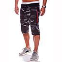 povoljno Kratke hlače-Muškarci Osnovni Dnevno Sport Širok kroj Kratke hlače Hlače - kamuflaža Pamuk Ljeto Djetelina Sive boje XL XXL XXXL