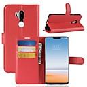 رخيصةأون LG أغطية / كفرات-غطاء من أجل LG LG X venture / LG V30 / LG V20 محفظة / حامل البطاقات / قلب غطاء كامل للجسم لون سادة قاسي جلد PU / LG G6