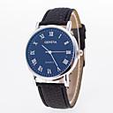 voordelige Merk Horloge-Heren Dames Polshorloge Kwarts Gewatteerd PU-leer Zwart Vrijetijdshorloge Analoog Modieus - Wit Blauw