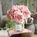 رخيصةأون أزهار اصطناعية-زهور اصطناعية 5 فرع الزفاف Wedding Flowers الفاوانيا الزهور الخالدة أزهار الطاولة