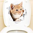 povoljno Trake i žice-Frižider Naljepnice Naljepnice za WC - Naljepnice za zidne zidove Životinje 3D Stambeni prostor Spavaća soba Kupaonica Kuhinja Trpezarija