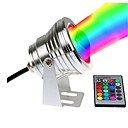 ieftine Colier la Modă-1 buc 10 W Lumini Subacvatice Rezistent la apă / Controlat de la distanță / Intensitate Luminoasă Reglabilă RGB + alb 12 V Lumina Exterior / Piscina / Curte 1 LED-uri de margele