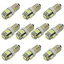 ieftine Îngrijire Unghii-1w bec bec e10 șurubelniță pentru lampă de semnalizare lumină lampă auto lampă interioară lumină dc 12v cald alb / rece alb (10 buc)