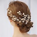 رخيصةأون مجوهرات الشعر-كل الفصول ذهبي أغطية الرأس مكعب زركونيا ورد نسائي-متصالب / قماش / سبيكة