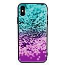 رخيصةأون أغطية أيفون-غطاء من أجل Apple iPhone X / iPhone 8 Plus / iPhone 8 نموذج غطاء خلفي بريق لماع قاسي زجاج مقوى