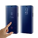 رخيصةأون حافظات / جرابات هواتف جالكسي S-غطاء من أجل Samsung Galaxy S9 / S9 Plus / S8 Plus تصفيح / مرآة / قلب غطاء كامل للجسم لون سادة قاسي سيليكون