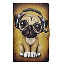 رخيصةأون حالة سامسونج اللوحي-غطاء من أجل Samsung Galaxy Tab E 9.6 حامل البطاقات / ضد الصدمات / مع حامل غطاء كامل للجسم كلب قاسي جلد PU