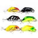 ieftine Ustensile & Gadget-uri de Copt-6 pcs Δόλωμα Momeală Dură Broască Exterior Scufundare Bass Păstrăv Ştiucă Aruncare Momeală Momeală pescuit Pescuit în General Plastic