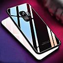 رخيصةأون حافظات / جرابات هواتف جالكسي S-غطاء من أجل Samsung Galaxy S9 / S9 Plus / S8 Plus مرآة غطاء خلفي لون سادة قاسي زجاج مقوى