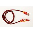 povoljno Android-Micro USB / Tip-C Kabel <1m / 3ft All-in-1 / 1 do 2 / Brzo punjenje Tekstil USB kabelski adapter Za Samsung / Huawei / Nokia