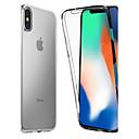 رخيصةأون أغطية أيفون-غطاء من أجل Apple iPhone XS / iPhone XR / iPhone XS Max ضد الصدمات / شفاف غطاء كامل للجسم لون سادة ناعم TPU