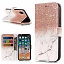 povoljno iPhone maske-Θήκη Za Apple iPhone X / iPhone 8 Plus / iPhone 8 Novčanik / Utor za kartice / sa stalkom Korice Mramor Tvrdo PU koža