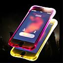 voordelige iPhone 5 hoesjes-hoesje Voor Apple iPhone X / iPhone 8 Plus / iPhone 8 LED-knipperlicht / Doorzichtig Achterkant Effen Zacht TPU