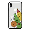 رخيصةأون أغطية أيفون-غطاء من أجل Apple iPhone X / iPhone 8 Plus / iPhone 8 نموذج غطاء خلفي كارتون قاسي أكريليك