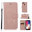 رخيصةأون حالات / أغطية ون بلس-غطاء من أجل Huawei Huawei Y6 (2018) محفظة / حامل البطاقات / مع حامل غطاء كامل للجسم بوم قاسي جلد PU