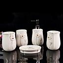 رخيصةأون أدوات الحمام-مجموعة اكسسوارات الحمام تصميم جديد / إبداعي خزفي 5pcs - حمام فردي