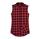رخيصةأون قمصان رجالي-رجالي رياضي Active / أساسي قطن قميص, ألوان متناوبة / منقوش / بدون كم
