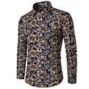 povoljno Muški sakoi i odijela-Veći konfekcijski brojevi Majica Muškarci - Posao Izlasci Pamuk Na točkice Plava / Dugih rukava
