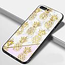 olcso iPhone tokok-Case Kompatibilitás Apple iPhone X / iPhone 8 Plus / iPhone 8 Tükör Fekete tok Élelem / Gyümölcs / Márvány Kemény TPU / Hőkezelt üveg