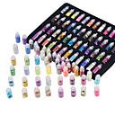 povoljno Naušnice-48PCS Umjetni noktički savjeti Blistati Nail art alat Za Modni dizajn / Shimmer / 48 boja nail art Manikura Pedikura Accent / Dekorativni / Visoka kvaliteta Dnevno