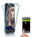 رخيصةأون حافظات / جرابات هواتف جالكسي J-غطاء من أجل Samsung Galaxy S9 / S9 Plus / S8 Plus شفاف غطاء خلفي لون سادة ناعم TPU