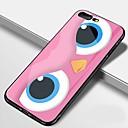 رخيصةأون أغطية أيفون-غطاء من أجل Apple iPhone X / iPhone 8 Plus / iPhone 8 مرآة / نموذج غطاء خلفي كارتون قاسي TPU / زجاج مقوى