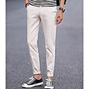 رخيصةأون صيني-رجالي أساسي مناسب للبس اليومي نحيل تشينوز بنطلون - لون سادة أسود البيج كاكي 34 36 38