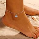 ieftine Bijuterii de Corp-Pentru femei Brățară Gleznă picioare bijuterii Elefant Animal femei Simplu Brățară Gleznă Bijuterii Argintiu Pentru Zilnic Stradă Ieșire