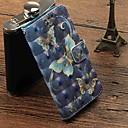 رخيصةأون أغطية أيفون-غطاء من أجل Apple iPhone X / iPhone 8 Plus / iPhone 8 محفظة / حامل البطاقات / قلب غطاء كامل للجسم فراشة قاسي جلد PU