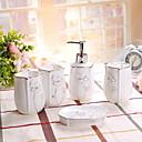 رخيصةأون أدوات الحمام-مجموعة اكسسوارات الحمام تصميم جديد / متعددة الوظائف معاصر خزفي 5pcs - حمام فردي