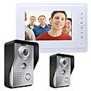رخيصةأون كأس الحمر-MOUNTAINONE SY819MKW21 7 Inch Video Door Phone 7 بوصة حر اليدين 700 TV Line واحد إلى واحد Doorphone الفيديو