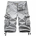 povoljno Chinos-Muškarci Vojni Dnevno Širok kroj Chinos / Kratke hlače / Cargo hlače Hlače - Jednobojni Tamno siva Sive boje Žutomrk 34 36 38