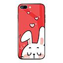 رخيصةأون أغطية أيفون-غطاء من أجل Apple iPhone X / iPhone 8 Plus / iPhone 8 مرآة / نموذج غطاء خلفي حيوان / كارتون قاسي زجاج مقوى