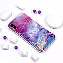 رخيصةأون أغطية أيفون-غطاء من أجل Apple iPhone X / iPhone 8 Plus / iPhone 8 تصفيح / IMD / نموذج غطاء خلفي حجر كريم ناعم TPU