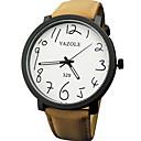 رخيصةأون ساعات الرجال-YAZOLE رجالي ساعة المعصم كوارتز جلد اصطناعي أسود / بني قضية ساعة كاجوال مماثل موضة الحد الأدنى - أسود بني