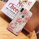 رخيصةأون أغطية أيفون-غطاء من أجل Apple iPhone X / iPhone 8 Plus / iPhone 8 اصنع بنفسك غطاء خلفي بريق لماع ناعم TPU