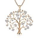 ieftine Colier la Modă-Pentru femei Coliere Funie Copacul Vieții viață copac femei Stilat Stil Atârnat Lolita dulce Ștras Aliaj Auriu Argintiu Roz auriu 75 cm Coliere Bijuterii 1 buc Pentru Nuntă Mascaradă Petrecere