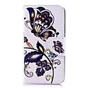 رخيصةأون أغطية أيفون-غطاء من أجل Apple iPhone X / iPhone 8 Plus / iPhone 8 محفظة / حامل البطاقات / مع حامل غطاء كامل للجسم فراشة قاسي جلد PU