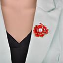 povoljno Broševi-Žene Broševi 3D Cvijet dame Vintage Europska Imitacija bisera Broš Jewelry Crn Crvena Za Večer stranka Ured i karijera