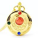 رخيصةأون ساعات الرجال-نسائي ساعة جيب كوارتز ستانلس ستيل ذهبي جميل تناظري-رقمي كرتون - ذهبي