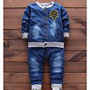 رخيصةأون ساعات الكوارتز-مجموعة ملابس قطن كم طويل طباعة أساسي للصبيان طفل صغير