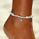 ieftine Bijuterii de Corp-Pentru femei Turcoaz Brățară Gleznă gleznă brățară picioare bijuterii Χάντρες Yoga Stea de mare Scoică femei Boem Bikini Modă Brățară Gleznă Bijuterii Argintiu Pentru Cadou Concediu