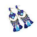 ieftine Imbracaminte & Accesorii Căței-Pentru femei Cercei Picătură #D femei Ciucure Elegant Supradimensionat Reșină cercei Bijuterii Bleumarin Pentru Club Măr 1 Pair