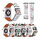 abordables Bracelets Apple Watch-Bracelet de Montre  pour Apple Watch Series 5/4/3/2/1 Apple Bracelet en Cuir Vrai Cuir Sangle de Poignet