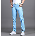 ieftine Fâșii Becurie LED-Bărbați De Bază Zilnic Zvelt Costume Pantaloni - Mată Albastru Deschis Verde Militar Kaki 31 32 28