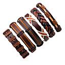 お買い得  ブレスレット-男性用 レザーブレスレット ロープ 撚糸 織り ファッション レザー ブレスレットジュエリー ブラック / Brown / ブラウン2 用途 舞台 ストリート