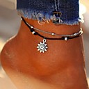 povoljno Narukvice-Žene Kratka čarapa nakit za noge Više slojeva Sunce dame Stilski Klasik Koža Kratka čarapa Jewelry Pink Za Dnevno Bikini