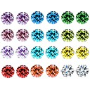 cheap Earrings-Women's Crystal AAA Cubic Zirconia Amethyst Stud Earrings Rope Solitaire Ladies Basic Earrings Jewelry Rainbow For Daily 12 Pairs / Citrine