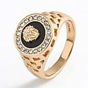povoljno Prstenje-Muškarci Prsten Pečatni prsten 1pc Zlato Srebro Umjetno drago kamenje Legura Stilski Klasik Vojni Vjenčanje Dnevno Jewelry Laso Sa životinjama